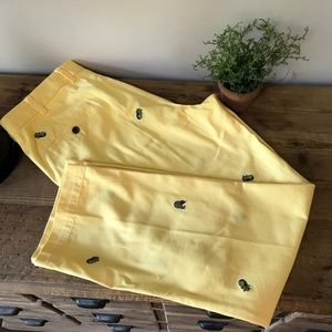 "BROOKS Brothers ""346"" Men Pineapple Pants W36 L30"